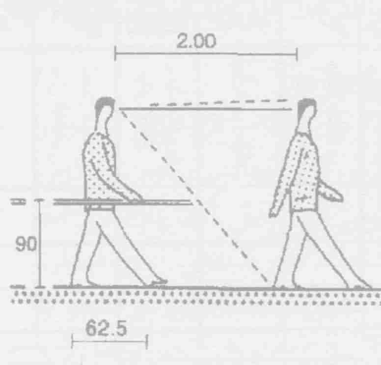 گام استاندارد یک فرد بالغ در یک سطح افقی